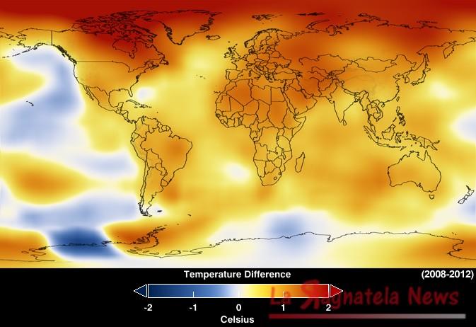 Nasa temperatura globale in aumento