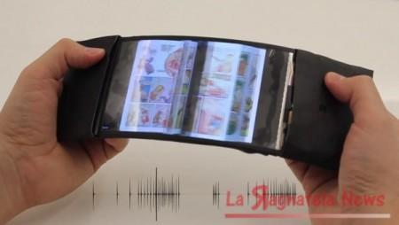 Arriva lo smartphone che si piega ma non si rompe