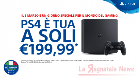 PlayStation 4 Slim solo per oggi a 199,99: 'Impossibile resistere'